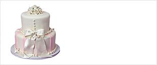 Торт свадебный 2 яруса