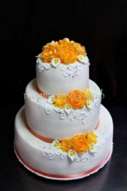 Торт свадебный на заказ - Оранж