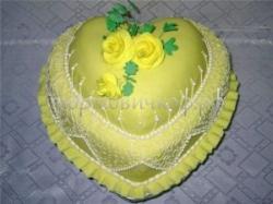 Торт для девушки - Сердце Лайм