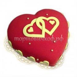 Свадебный торт на заказ - Сердце