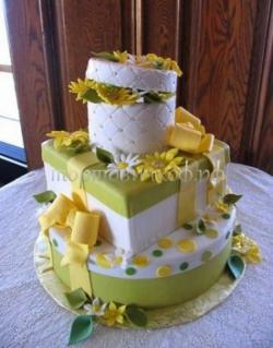 Торт на день рождения - Ромашки