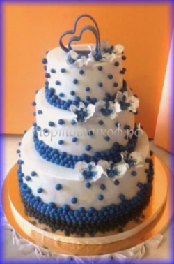 Торт на заказ свадебный - Бордовые розы