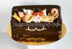 Торт на заказ - Мужик на диване