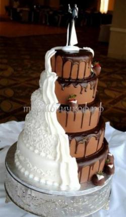 """Свадебный торт """"Шоколадное чудо"""""""