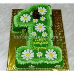 Детский торт на заказ - Единичка