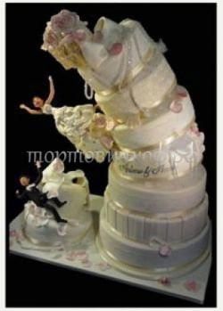 Прикольные торты на свадьбу # 6