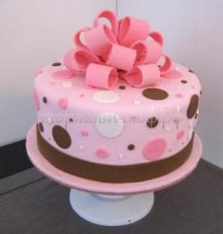 Торт на заказ для девушки - Розовый бант