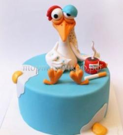 Прикольный торт на день рождения - Цыпленок