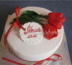 Торт для мамы - Тюльпаны