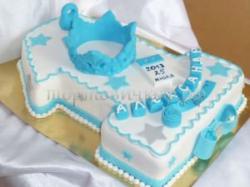 Торт на заказ - цифра 1 годик - ( Царевич )
