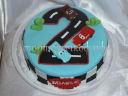 Торт на заказ - цифра два года - ( мальчик )