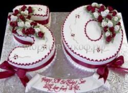 Заказать торт на Юбилей 50 лет - Цифра