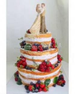 Торт свадебный на заказ - Голая ягода