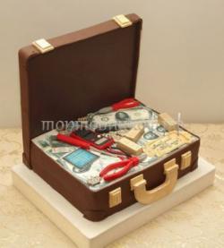 Торт для мужа - Сундук с деньгаим