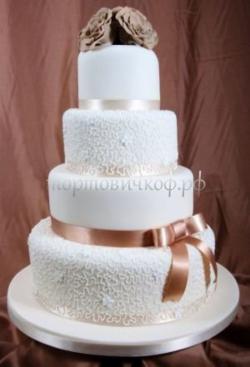 Торт свадебный на заказ - № 005
