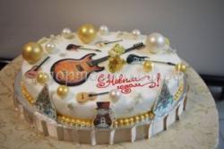 Торт - С новым годом музыкант