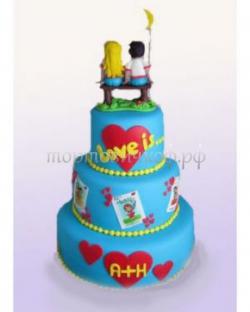 Торт свадебный на заказ - Любовь это ........