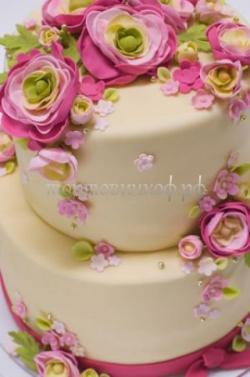 Торт свадебный на заказ - № 028