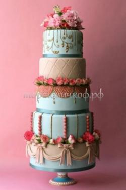 Торт свадебный на заказ - № 154