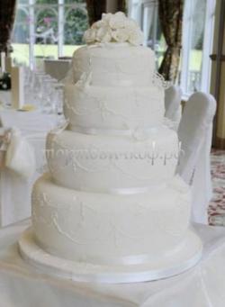 Торт свадебный на заказ - № 209