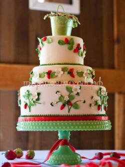 Торт свадебный на заказ - № 055