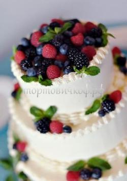 Торт свадебный на заказ - № 063