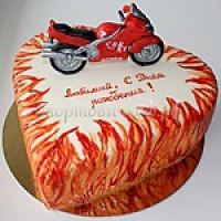 Торт на заказ для мужчины - Мотоциклист
