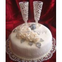 Свадебный торт на заказ в СПб - Бокалы