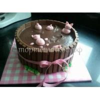 Торт на заказ - Свинки