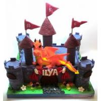 Торт на заказ детский - Замок и дракон