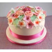 Торт в подарок жене - Шляпка с цветами