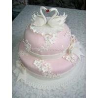 Свадебный торт на заказ в СПб - Лебеди