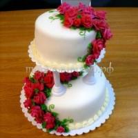 Свадебный торт на заказ в СПб -  Розария