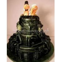 Прикольные торты на свадьбу # 16