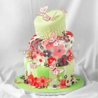 Торт на день рождения - Цветочная гора