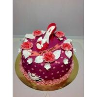 Торт на заказ женский - Поздравления с цветами