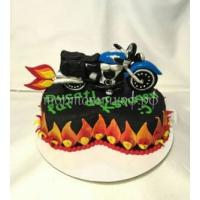 Торт на заказ детский - Мотоцикл