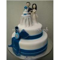 Торт свадебный на заказ - № 045