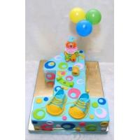 Торт на заказ - цифра 1 годик - ( день рождения )