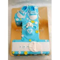 Торт на заказ - цифра 1 годик - ( голубой цвет )