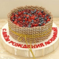 Торт для мужа - Ягодное лукошко