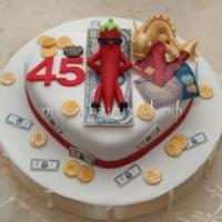 Заказать торт на юбилей 45 лет