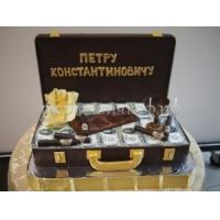 Торт на заказ - Чемодан с деньгами