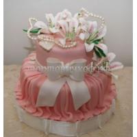 Торт для мамы - Розовый бант