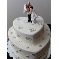 Прикольные торты на свадьбу # 15