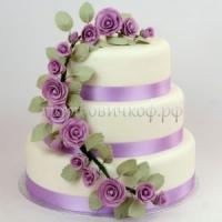 Торт свадебный на заказ - № 004