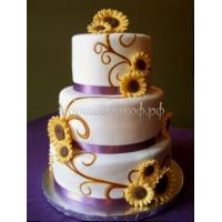 Торт свадебный на заказ - № 011