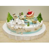 Торт на новый год - Снежок