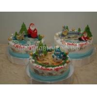 Торт новогодний - Троица