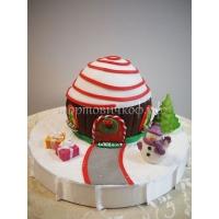 Торт новогодний - Хижина